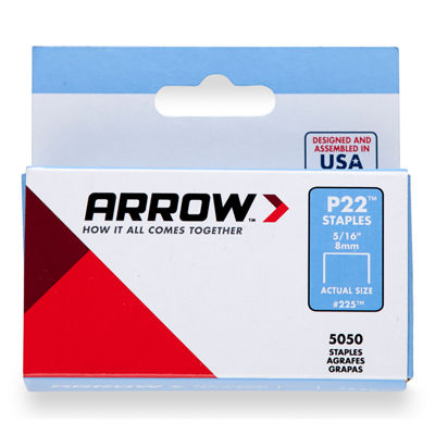 "Arrow Fastener 225 5/16"" P22 Staples"""
