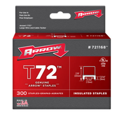 Arrow Fastener 721168 31/64IN T72 Insulated Staples
