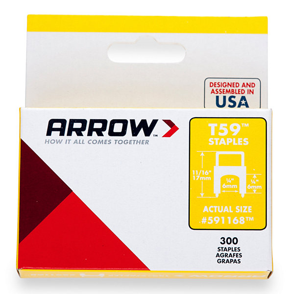 Arrow Fastener 591168 1/4IN X 1/4IN Clear T59 Staples
