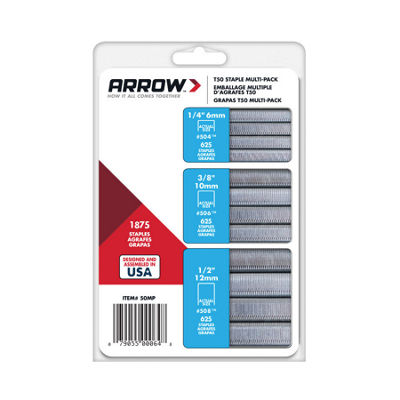 Arrow Fastener 50Mp T50 Staple Multi-Pack