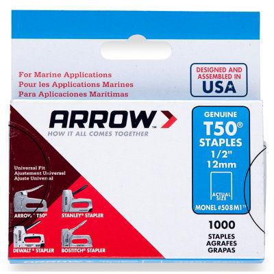 """Arrow Fastener 508M1 1/2"""" T50 Monel Staples"""
