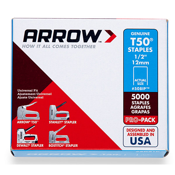 Arrow Fastener 508Ip 1/2IN T50 Staples