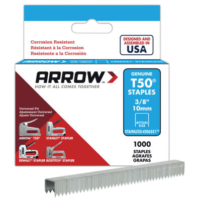 Arrow Fastener 506Ss1 3/8IN T50 Stainless Steel Staples