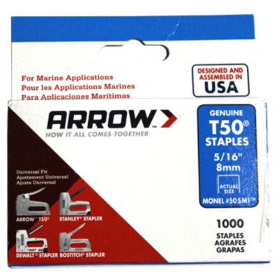 """Arrow Fastener 505M1 5/16"""" T50  Monel Staples"""""""