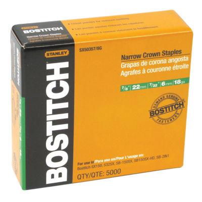 """Bostitch Stanley Sx50357/8G 7/8"""" Galvanized Staples 5:000 Count"""""""