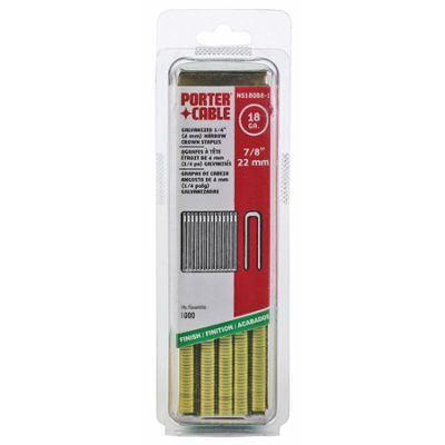 "Porter Cable Pns18088-1 7/8"" Narrow Crown Staples1,000 Count"