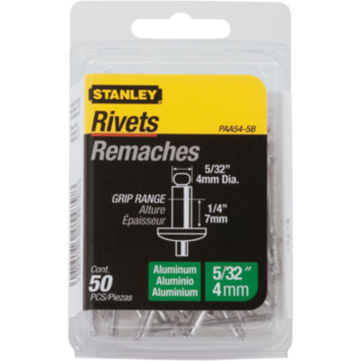 """Stanley Hardware Paa54-5B 5/32"""" X 1/4"""" Aluminum  Rivets 50 Count"""