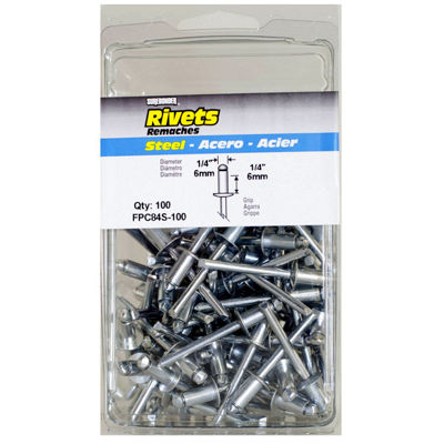 Fpc Surebonder Fpc84S-100 1/4IN X 1/4IN Steel Rivets 100 Count