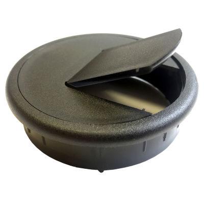 """Black Point Products Inc BE-015-BLACK 2.5"""" Black Plastic Desk Grommets 2 Count"""