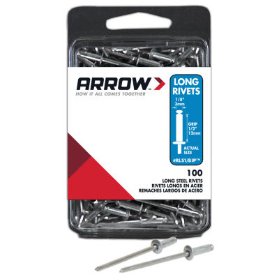 "Arrow Fastener RLS1/8IP 1/8"" Steel Rivets 100 Count"""