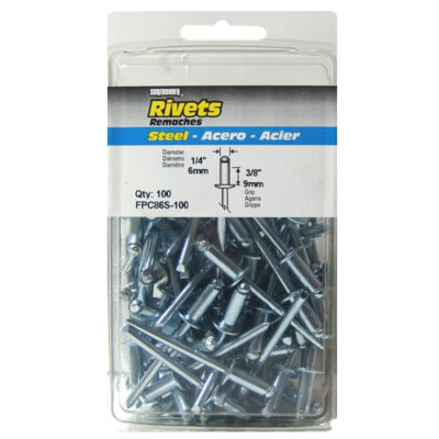 Fpc Surebonder Fpc86S-100 1/4IN X 3/8IN Steel Rivets100 Count