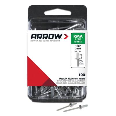 "Arrow Fastener RMA1/8IP 1/8"" Medium Aluminum Rivets 100 Count"""
