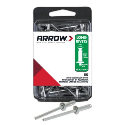 Arrow Fastener RLA3/16IP 3/16IN Long Aluminum Rivets 50 Count