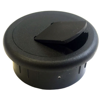 Black Point Products Inc BE-012-BLACK 1.5IN BlackPlastic Desk Grommets 2 Count