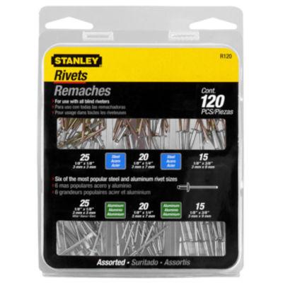 Stanley Hand Tools R120 Aluminum & Steel Rivet Assortment Set 120 Count