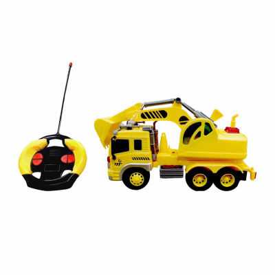 Playtek - 1:16 Scale Remote Control Construction Truck Excavator