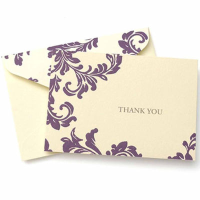 Brides  Purple Ivory Thank You