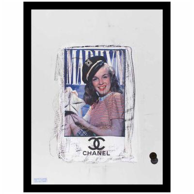 Fairchild Paris Marilyn Monroe Chanel Ad (726) Framed Wall Art