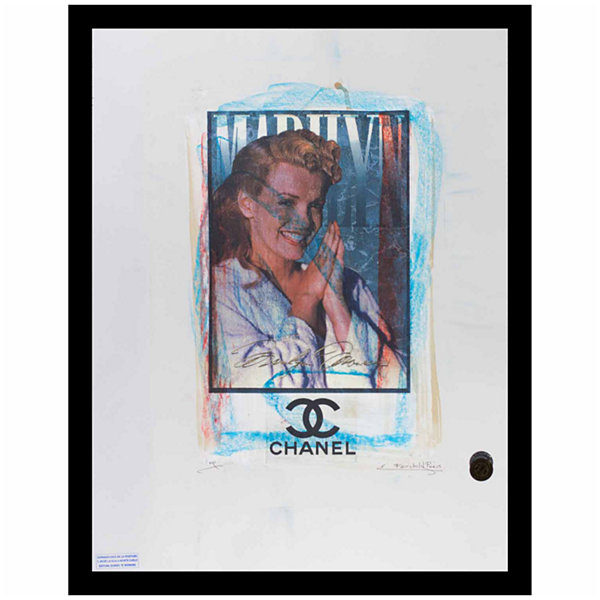 Fairchild Paris Marilyn Monroe Chanel Ad (744) Framed Wall Art