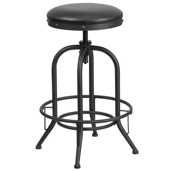 30IN Barstool with Swivel Lift Faux-Leather Seat