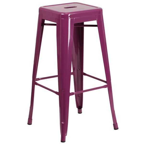 30IN Modern Industrial Backless Indoor/Outdoor Backless Barstool