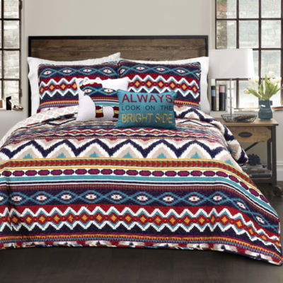 Lush Decor Berkane Quilt Navy 5PC Set