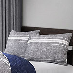 Lush Decor Marlton Stripe Quilt Gray 3PC Set