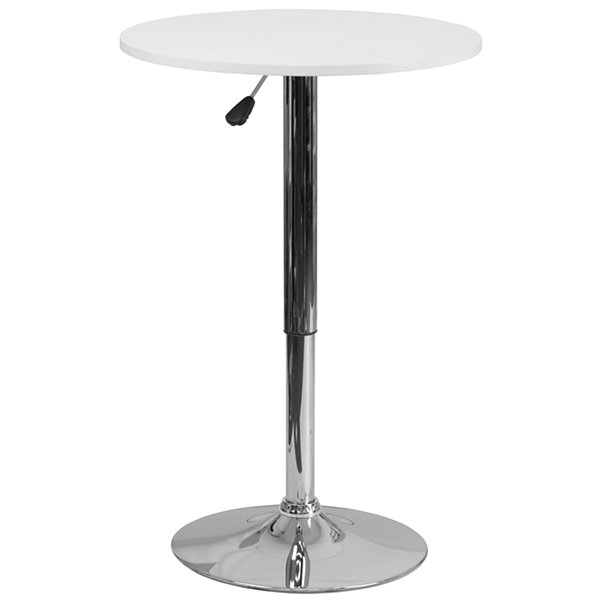 23.5IN Round Glass Table with 35.5IN Chrome Base