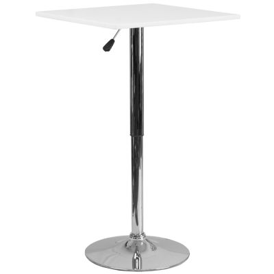 23.75IN Round Glass Table with 41.75IN Chrome Base