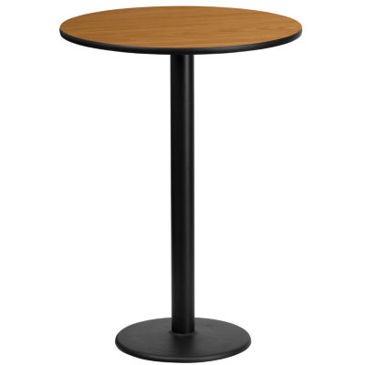 24'' Round Laminate Table Top with 18'' Round Bar Height Table Base