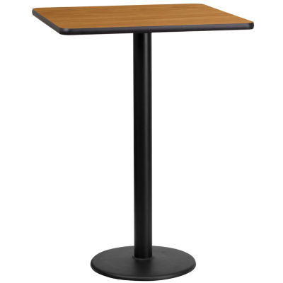 24IN Round Wood Cocktail Table with 30IN and 42IN Columns