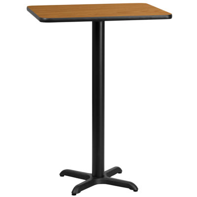 24'' x 30'' Rectangular Laminate Table Top with 22'' x 22'' Bar Height Table Base