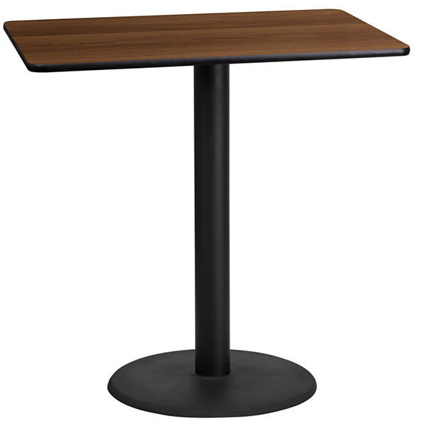 24IN x 42IN Rectangular Laminate Table Top with 22IN x 30IN Bar Height Table Base