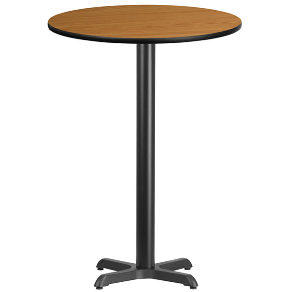 30IN Round Laminate Table Top with 18IN Round BarHeight Table Base