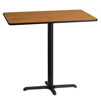 30'' x 45'' Rectangular Laminate Table Top with 22'' x 30'' Bar Height Table Base