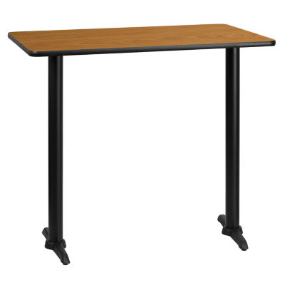 30'' x 45'' Rectangular Laminate Table Top with 5'' x 22'' Bar Height Table Bases