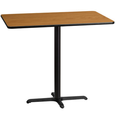 30'' x 48'' Rectangular Laminate Table Top with 22'' x 30'' Bar Height Table Base