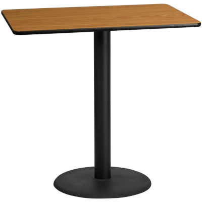 30IN x 48IN Rectangular Laminate Table Top with 22IN x 30IN Bar Height Table Base