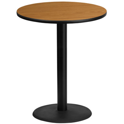 36'' Round Laminate Table Top with 24'' Round Bar Height Table Base