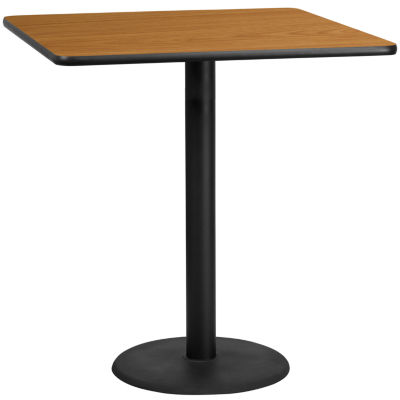 42IN Round Laminate Table Top with 33IN x 33IN Bar Height Table Base