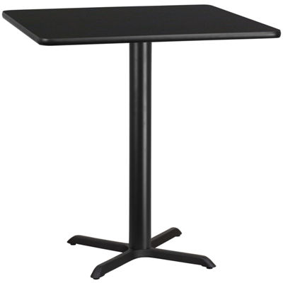 42'' Square Laminate Table Top with 33'' x 33'' Bar Height Table Base