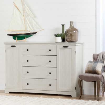 Avilla 4-Drawer Dresser with Doors