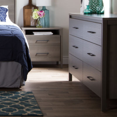 Gravity 6-Drawer Double Dresser and 2-Drawer Nightstand