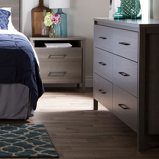 Gravity 6 Drawer Double Dresser And 2 Drawer Nightstand