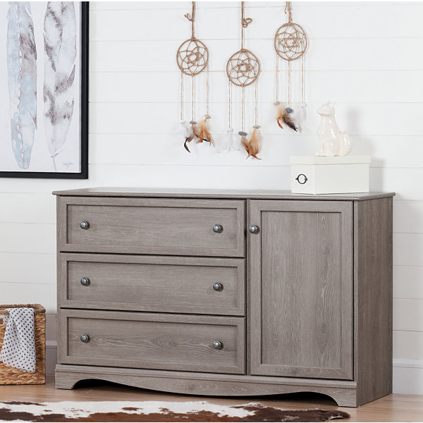 Savannah 3-Drawer Dresser with Door