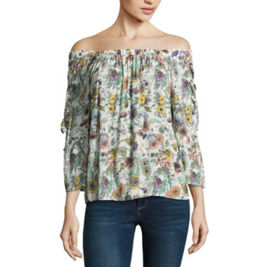 Lone+Lux Floral Off The Shoulder Top