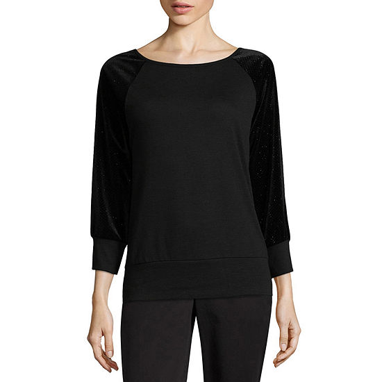 Alyx Womens Round Neck 3/4 Sleeve Sweatshirt