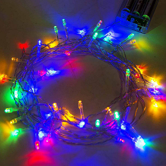 Aleko Battery Operated Christmas Holiday Party String Lights 30 LED Lot Of 5