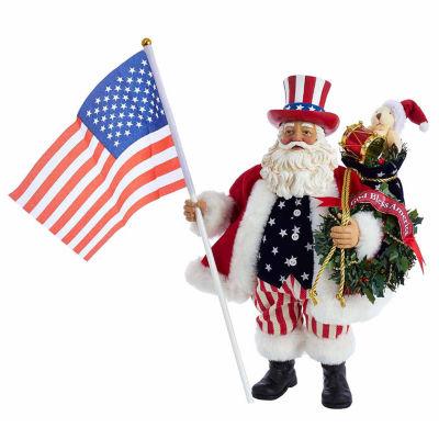 "Kurt Adler 12"" Fabriché™ Patriotic Americana Musical Santa"