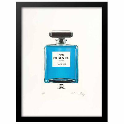 Fairchild Paris Blue Chanel No. 5 Framed Framed Wall Art